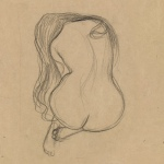Two Studies of a Seated Nude with Long Hair